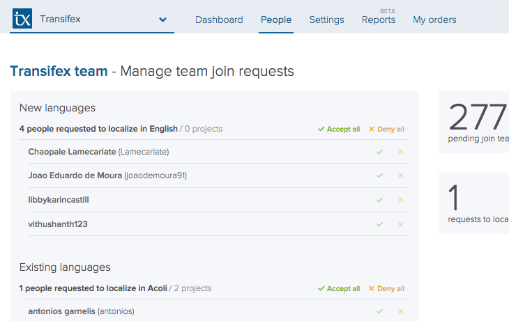 Manage team join requests